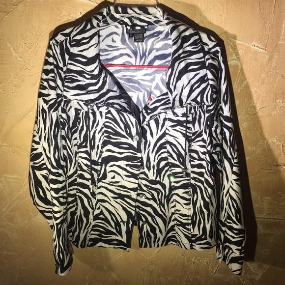 ea5b9d0417bb Berek Jackets & Coats   Zebra Xl Jacket With Fabulous Accents   Poshmark